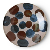 "Rustic Dots 11"" Plate"
