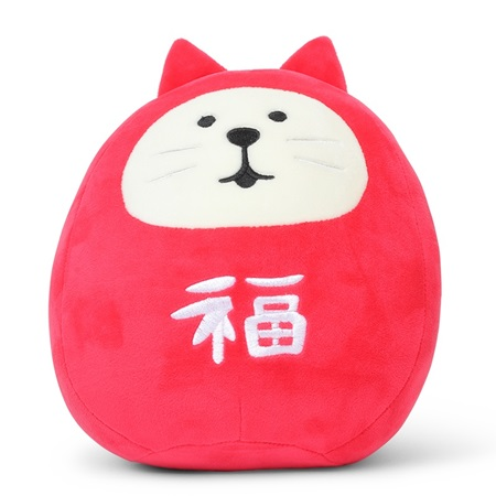 Plush Cat Daruma Large