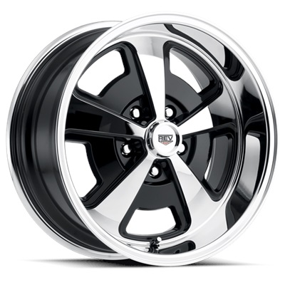 109 Classic Series Magnum 15x8 5x120.65 - Chrome/Black