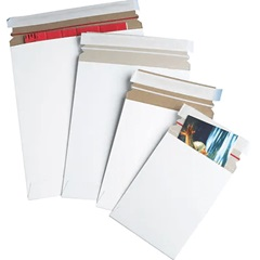 11 X 13.5 WHITE SELF-SEAL STAYFLAT MAILERS 100/CS   RM3SS