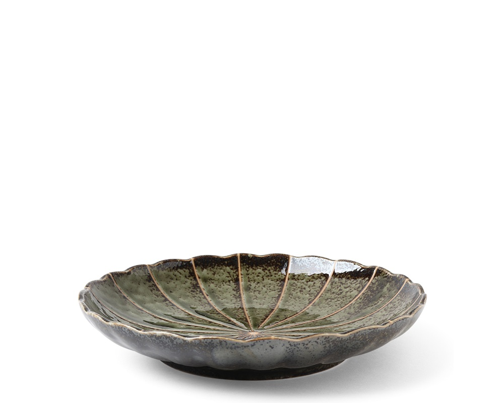 "Kasa Lines Green 9"" Plate"