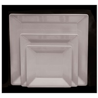 Thunder Group Ps3208W Passion White Square Plate 8-1/4""