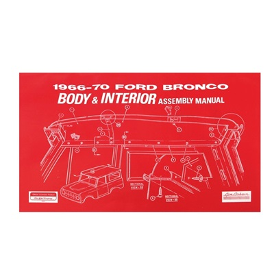 1966-70 BRONCO BODY/INT Manual