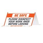 BeSafe Messaging Commercial Table Tents