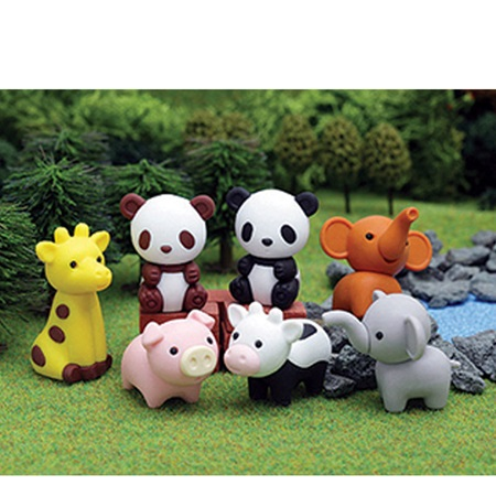 Iwako Zoo Animals Erasers