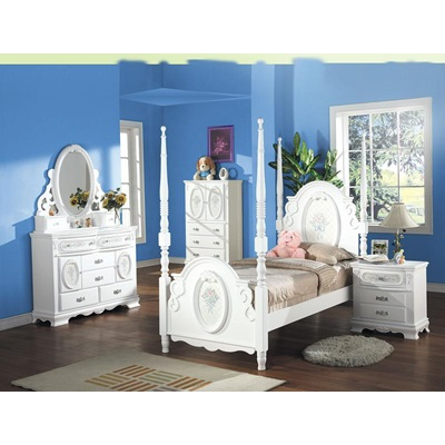 01660T KIT- FLORA TWIN POST BED