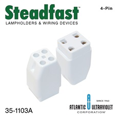Lamp Socket: 4-Pin Free Standing Lamp Socket (No Bracket)