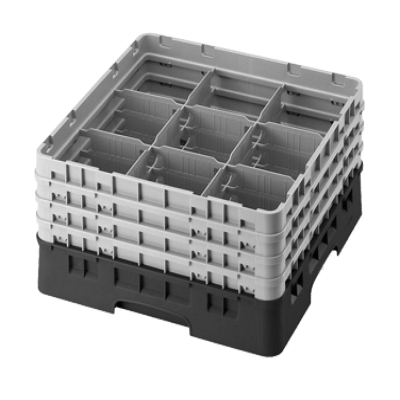 Cambro 9S434110 Camrack Glass Rack with 2 Extenders