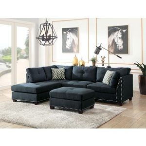 54360 LAURISSA DARK BLUE LF SEC.SOFA