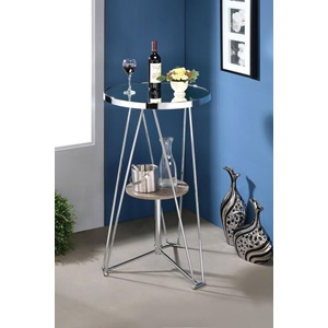 72577 MIRROR / GRAY OAK BAR TABLE