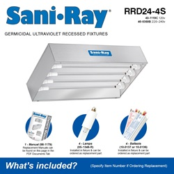Sani•Ray RRD24-4S Included Accessories