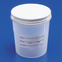 Larger Sterile Screw Cap Specimen Cup  (Covidien 14000)