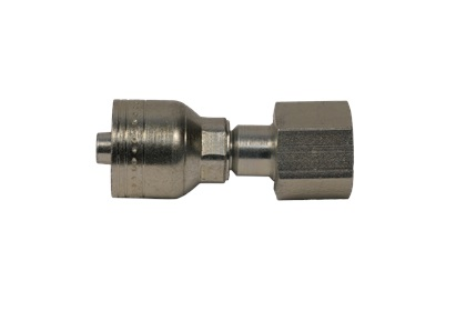 "Hydraulic Crimp Style Fitting, 1/2"" F/M ORS X 3/8 Hose"