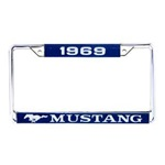 1969 Mustang Year Dated License Plate Frame