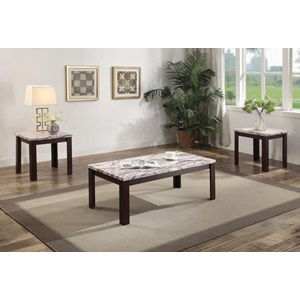 82132 FAUX MARBLE 3PC PK COFFEE/END
