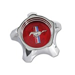 1967 Styled Steel Hub Cap (Red)