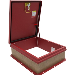 Red Personnel 2 Roof Hatch - Open