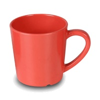 "Thunder Group Cr9018Rd Red Melamine 3-1/8"" Mugs/Cups 7 Oz."