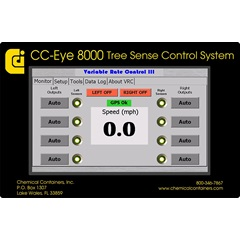 Close up of control panel for CC-Eye system