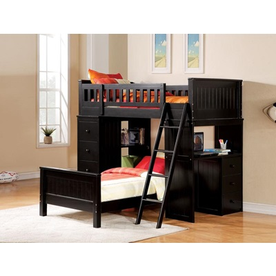 10980A_KIT KIT- WILLOUGHBY BLACK LOFT BED