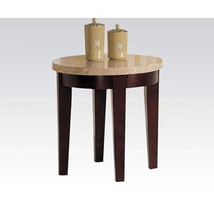 17143B WH MARBLE TOP END TABLE