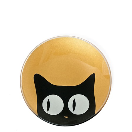 "Cat Eyes 3.5"" Mini Glass Dish - Gold"