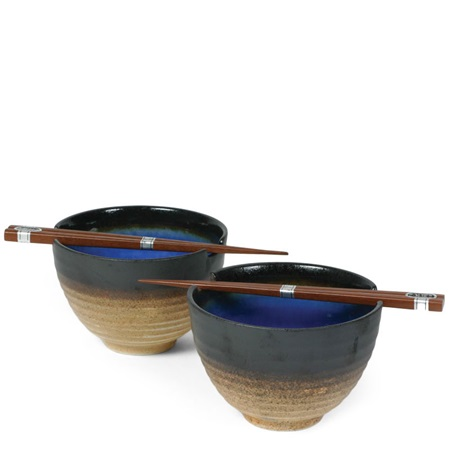 "Cobalt Blue 5.5"" Bowl For Two Set"
