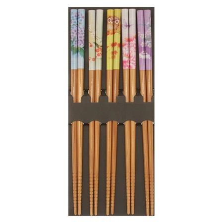 Chopsticks Set Bamboo Garden Seasons