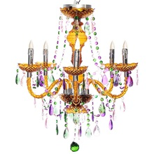 "25.5""H Cordless LED Luxury Jewel 5 Arm Chandelier"