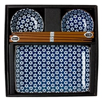 Blue & White Star Sushi Set