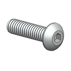 "Button Head Socket Screw, 8-32 X 5/8"", 18-8 Stainless Steel"