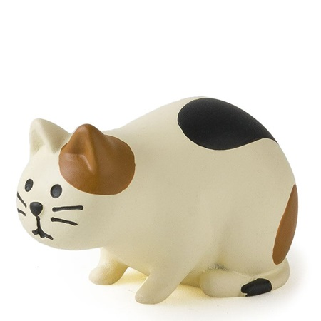 Figurine Curious Calico Cat