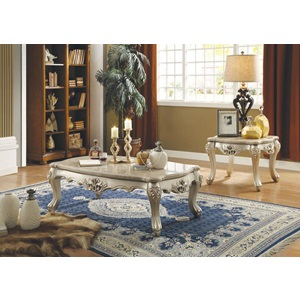 81040 COFFEE TABLE W/MARBLE TOP