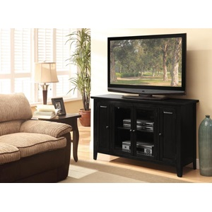 91010 BLACK FINISH TV STAND