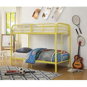 02178YL YELLOW TWIN/TWIN BUNK BED