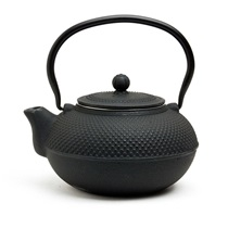 BLACK HOBNAIL CAST IRON TEAPOT