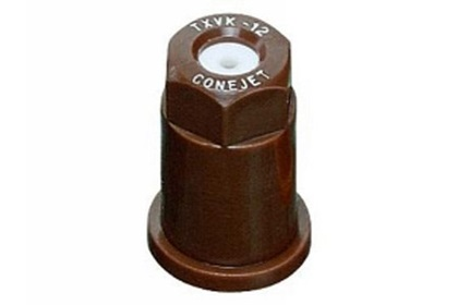 ConeJet TeeJet TX-VK12 - Brown VisiFlo Hollow Cone Ceramic Nozzle
