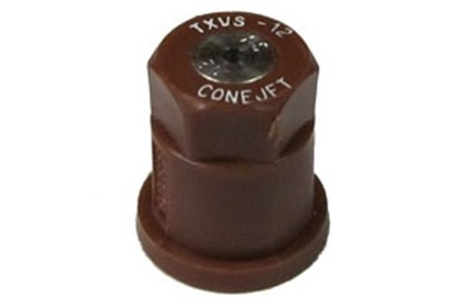 ConeJet TeeJet TX-VS12 - Brown VisiFlo Hollow Cone Stainless Steel Nozzle