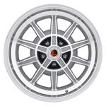 17 x 8 GT7 Alloy Wheel, 5 on 4.5 BP, 4.75 BS, Machined / Clear Coat