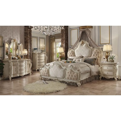 26880Q PICARDY ANTIQUE PEARL Q BED