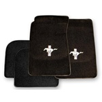 Custom Full-Size Carpet Floor Mats (Black)