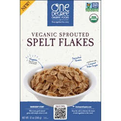 Sprouted Spelt Flakes, OG - 12oz
