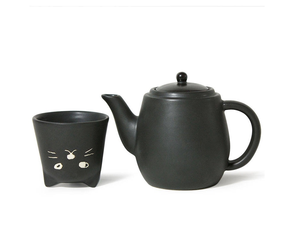 Black Cat Tea Set