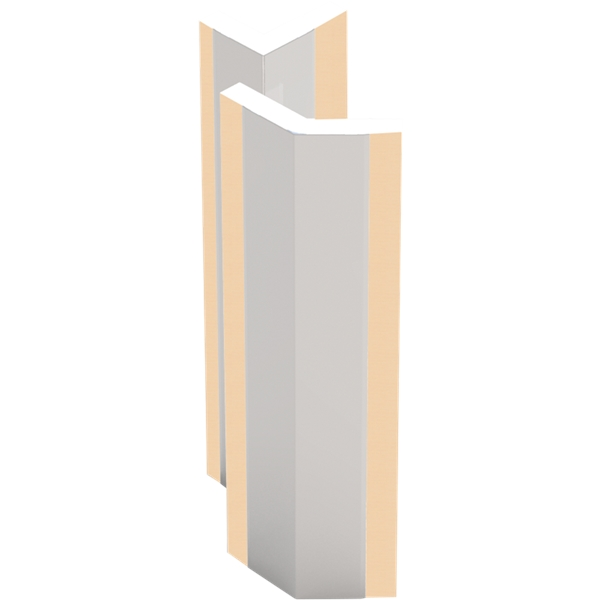 48 Quot Stainless Steel Corner Guard Adhesive Nystrom