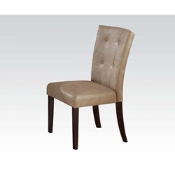 10284 WALNUT SIDE CHAIR W/CREAM PU