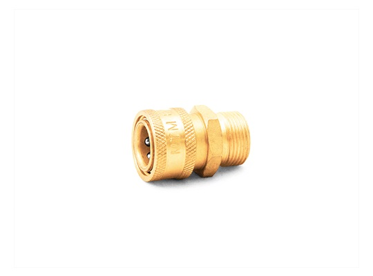"MTM Hydro Twist Seal Plug X 3/8"" Brass QC Coupler"
