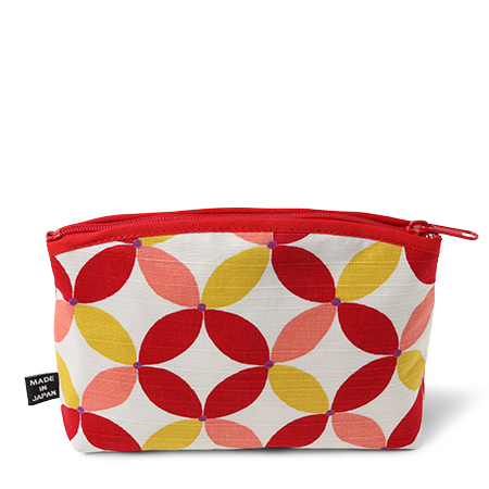 PURSE RED PATTERN ZIPPERED