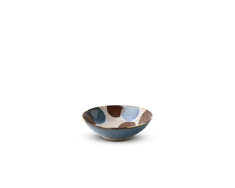 "Rustic Blue & Brown 5.75"" Bowl"