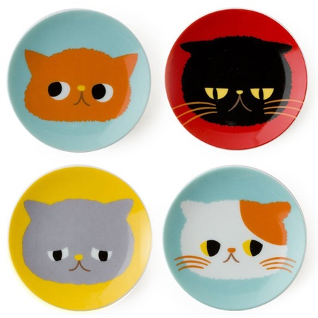 "Exotic Cat 3.5"" Mini Plate Set"