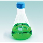Erlenmeyer Flask with Screw Cap, Borosilicate Glass (United Scientific)